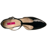 Musta Kiiltonahka 10 cm DREAM-425 suuret koot avokkaat kengät