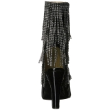 Musta Kiiltonahka 10 cm QUEEN-100 suuret koot nilkkurit naisten