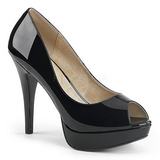 Musta Kiiltonahka 13,5 cm CHLOE-01 suuret koot avokkaat kengät