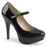 Musta Kiiltonahka 13,5 cm CHLOE-02 suuret koot avokkaat kengät