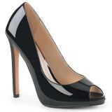 Musta Kiiltonahka 13 cm SEXY-42 klassiset avokkaat kengät naisten