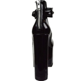 Musta Kiiltonahka 16 cm CRAMPS-03 Gootti Avokkaat Kengät