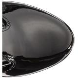 Musta Kiiltonahka 18 cm ADORE-3050 korokepohja pitkät saappaat