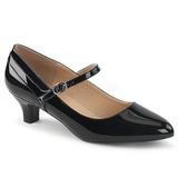 Musta Kiiltonahka 5 cm FAB-425 suuret koot avokkaat kengät