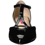 Musta Kiiltonahka 5 cm FAB-428 suuret koot avokkaat kengät