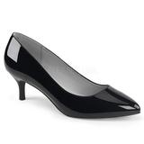Musta Kiiltonahka 6,5 cm KITTEN-01 suuret koot avokkaat kengät