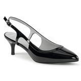 Musta Kiiltonahka 6 cm KITTEN-02 suuret koot avokkaat kengät