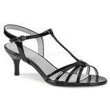 Musta Kiiltonahka 6 cm KITTEN-06 suuret koot sandaalit naisten