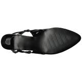 Musta Kiiltonahka 7,5 cm DIVINE-418 suuret koot avokkaat kengät