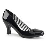 Musta Kiiltonahka 7,5 cm JENNA-01 suuret koot avokkaat kengät
