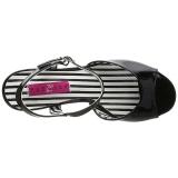 Musta Kiiltonahka 7,5 cm JENNA-09 suuret koot sandaalit naisten