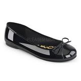 Musta Kiiltonahka ANNA-01 suuret koot ballerinat kengät