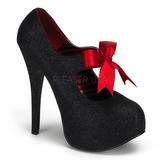 Musta Kimalle 14,5 cm Burlesque TEEZE-04G naisten kengät korkeat korko