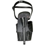 Musta Kimalle 15 cm DELIGHT-609-5G Korkosandaalit