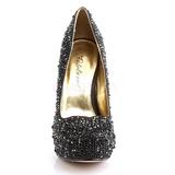 Musta Kimaltelevia Kiviä 13,5 cm FELICITY-20 naisten kengät korkeat korko