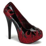 Musta Kimaltelevia Kiviä 14,5 cm Burlesque TEEZE-27 naisten kengät korkeat korko