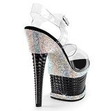 Musta Kimaltelevia Kiviä 16,5 cm ILLUSION-658RS naisten kengät korkeat korko