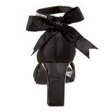 Musta Kristalli 8,5 cm ROMANCE-372 Naisten Sandaletit Korkea