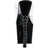 Musta Kristalli Kivi 18 cm DIAMOND-702 Korkeakorkoiset Muulit Kengät