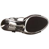 Musta Kromi 13 cm COCKTAIL-509 Platform Korkeakorkoiset Sandaalit