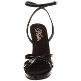 Musta Lakatut 12 cm FLAIR-436 Naisten Sandaletit Korkea