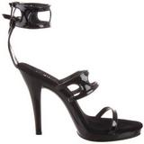 Musta Lakatut 12 cm FLAIR-458 Naisten Sandaletit Korkea