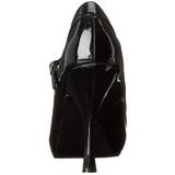 Musta Lakatut 12 cm PRETTY-50 Pumps Naisten Kengät