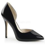 Musta Lakatut 13 cm AMUSE-22 klassiset avokkaat kengät naisten