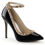 Musta Lakatut 13 cm AMUSE-28 klassiset avokkaat kengät naisten