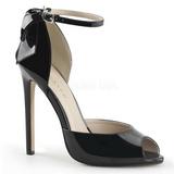 Musta Lakatut 13 cm SEXY-16 klassiset avokkaat kengät naisten