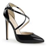 Musta Lakatut 13 cm SEXY-26 klassiset avokkaat kengät naisten