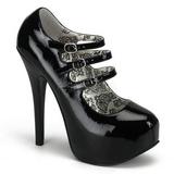 Musta Lakatut 14,5 cm Burlesque TEEZE-05 naisten kengät korkeat korko