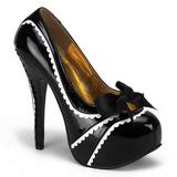 Musta Lakatut 14,5 cm Burlesque TEEZE-14 naisten kengät korkeat korko