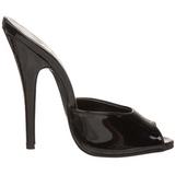 Musta Lakatut 15 cm DOMINA-101 Korkeakorkoiset Muulit Kengät