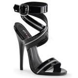 Musta Lakatut 15 cm DOMINA-119 High Heels Sandaletit Kengät