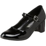 Musta Lakatut 5 cm SCHOOLGIRL-50 klassiset avokkaat kengät naisten