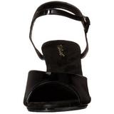 Musta Lakatut 8 cm BELLE-309 Naisten Sandaletit Korkea