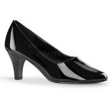 Musta Lakatut 8 cm DIVINE-420W Naisten kengät avokkaat