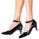 Musta Lakatut 8 cm DIVINE-431W Pumps Naisten Kengät