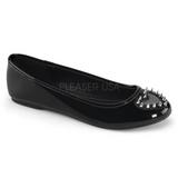 Musta Lakatut STAR-24 gootti ballerina kengät matalat kengät