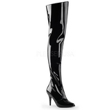 Musta Lakka 10,5 cm VANITY-3010 overknee pitkät saappaat