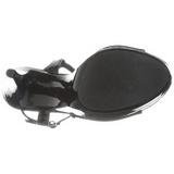 Musta Lakka 13 cm COCKTAIL-509 Platform Korkeakorkoiset Sandaalit