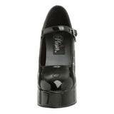 Musta Lakka 13 cm DOLLY-50 Mary Jane Platform Avokkaat Kengät