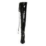Musta Lakka 13 cm ELECTRA-3050 korolliset ylipolvensaappaat