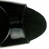 Musta Lakka 23 cm Pleaser INFINITY-912SP Platform Korkosandaalit
