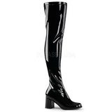 Musta Lakka 8 cm GOGO-3000 pitkät saappaat naisten