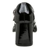 Musta Lakka 8 cm GOGO-50 Avokkaat Kengät Korkeat Korot