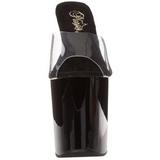 Musta Läpinäkyvä 20 cm FLAMINGO-801 Korkeakorkoiset Muulit Kengät