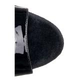 Musta Läpinäkyvä 20 cm Pleaser FLAMINGO-809 Platform Korkosandaalit