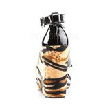 Musta Leopardi 13 cm POISON-03 Kiila Avokkaat Kengät